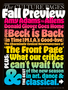 <cite>New York</cite> magazine, Culture Pages, Fall Preview 2016