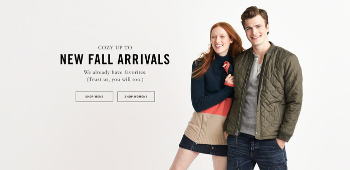 Abercrombie & Fitch website (2016) 1