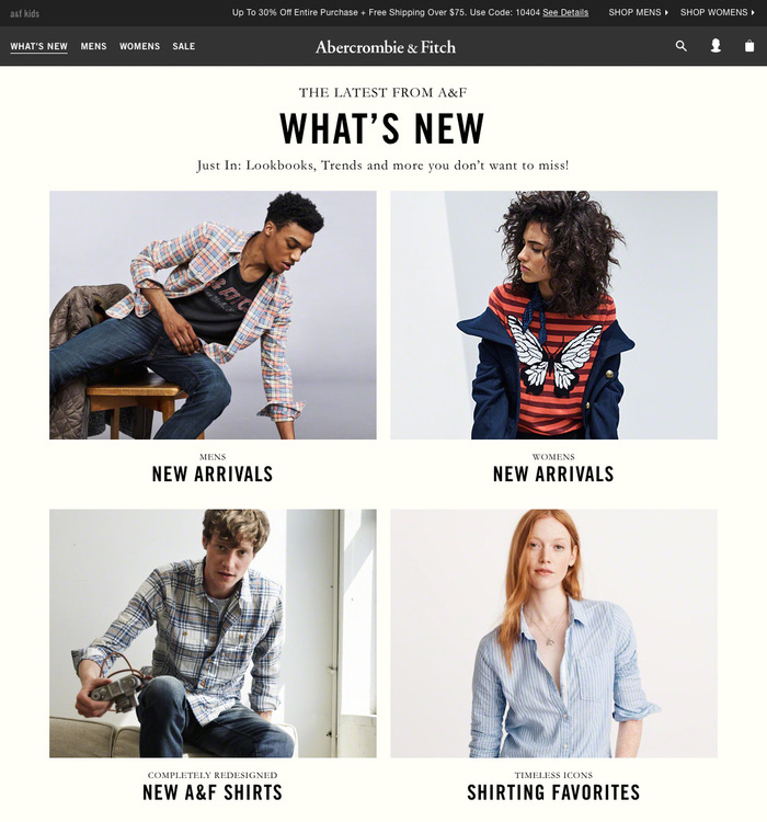 Abercrombie & Fitch website (2016) 4