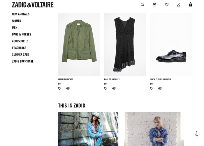 Zadig & Voltaire logo and website 1