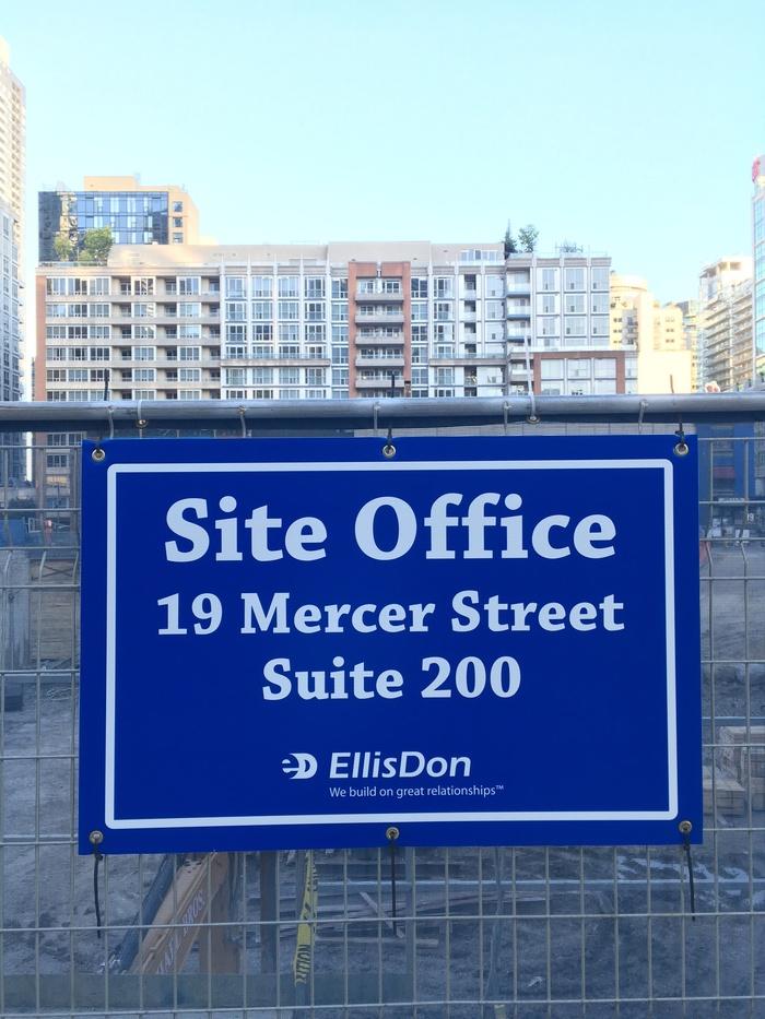 EllisDon construction site signs 3