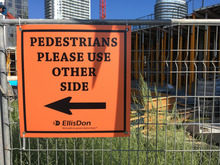 EllisDon construction site signs