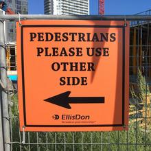 EllisDon construction site signs