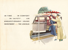 1933 Lincoln Three Window Berline brochure