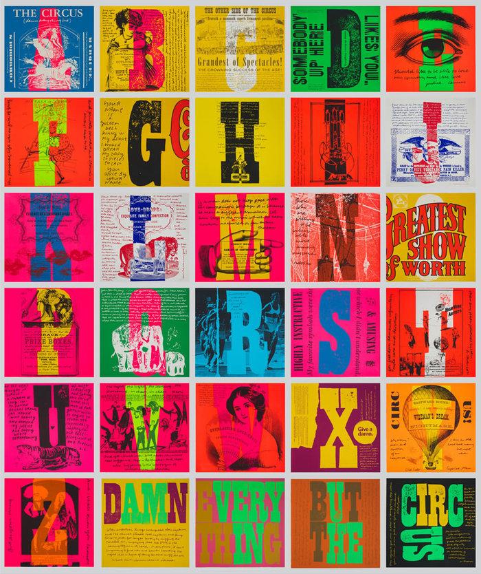 The complete circus alphabet series.