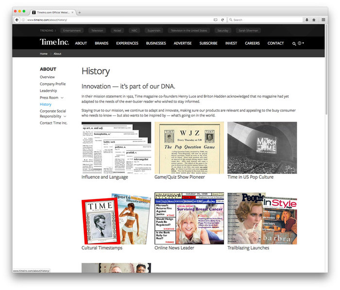 TimeInc website 8