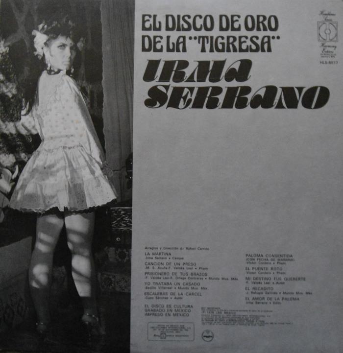 """Irma Serrano – El Disco de Oro de la """"Tigresa"""" album art 2"""