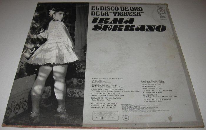 """Irma Serrano – El Disco de Oro de la """"Tigresa"""" album art 4"""