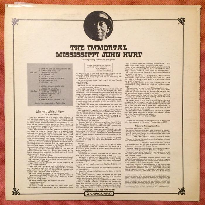 The Immortal Mississippi John Hurt album art 3
