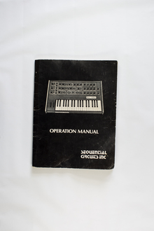 Sequential Circuits Pro One synthesizer and manual
