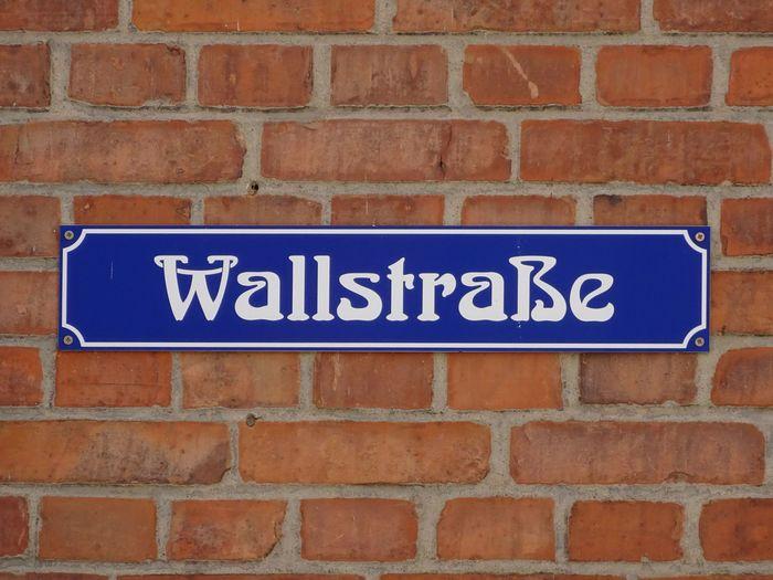 Street sign in Schwerin, Germany
