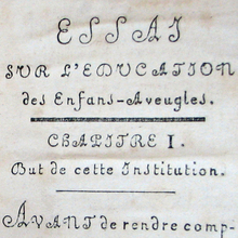 Haüy's <cite>Essay on the Education of the Blind</cite> (1786)