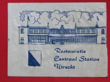 Restauratie Centraal Station Utrecht sugar packet