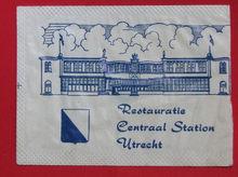 Restauratie Centraal Station Utrecht sugar packet