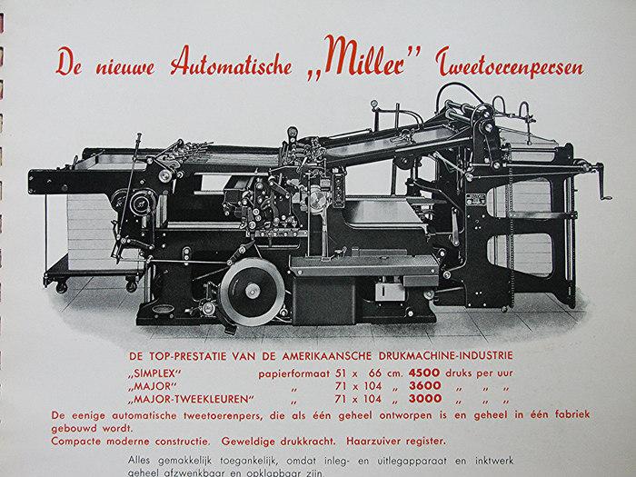 Miller printing press ad