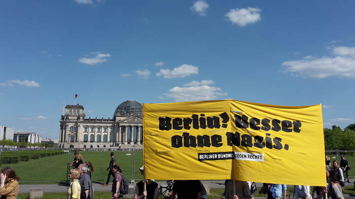In front of the Reichstag
