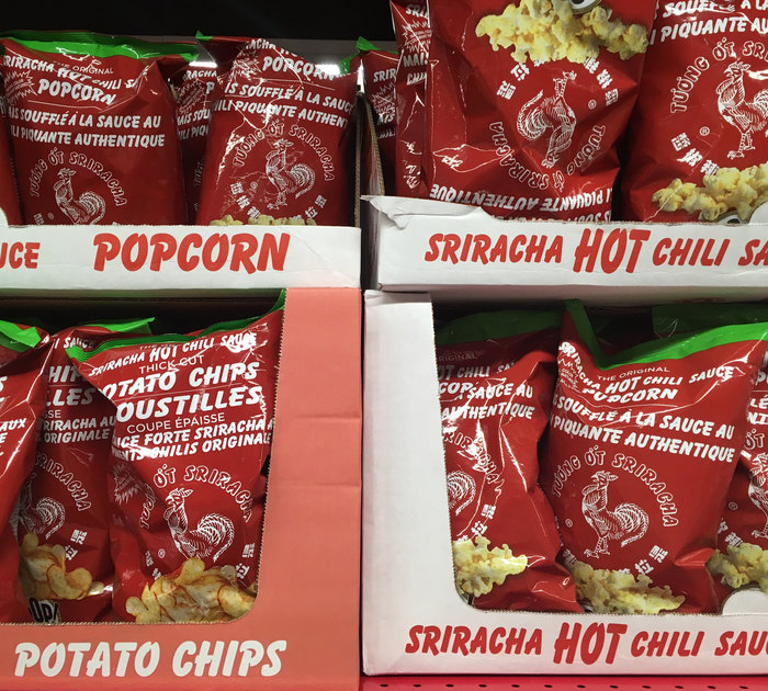 The brand's product range also extends to potato chips and popcorn.