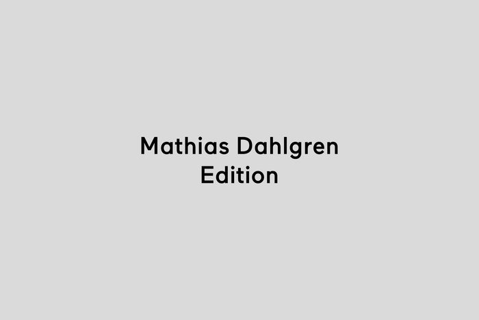 Mathias Dahlgren Edition 1