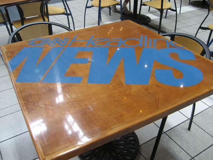 "The first logo using the ""Headline News"" name. Designed by John Christopher Burns in 1988. Introduced on air sometime between 1989–92."