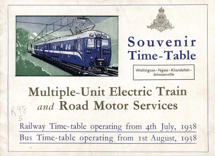 Wellington to Johnsonville Souvenir Time-Table, NewZealand Railways 1