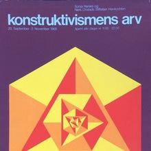 <cite>Konstruktivismens Arv</cite> exhibition poster