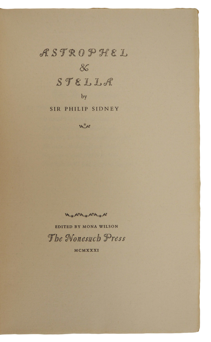 Astrophel & Stella by Philip Sidney, Nonesuch Press 3