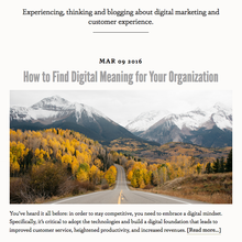 Digital Meaning website