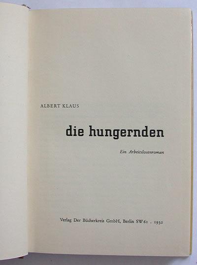 Die Hungernden by Albert Klaus 4