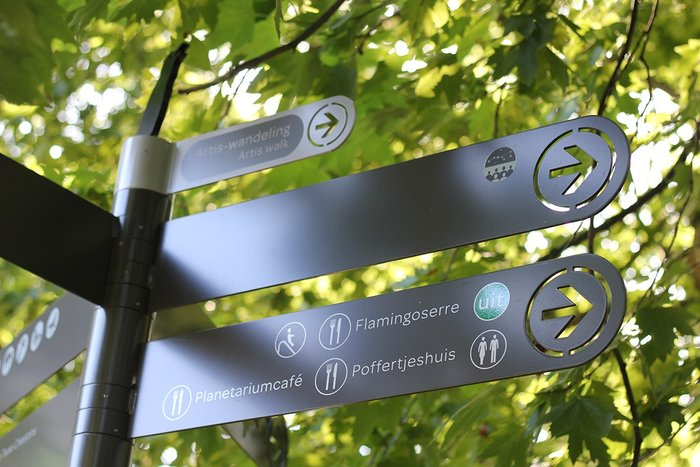 Wayfinding system for Artis — Amsterdam Royal Zoo 4