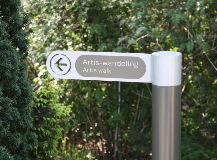 Wayfinding system for Artis — Amsterdam Royal Zoo 2
