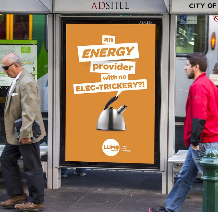 Ad designed by Darcy O'Connor for Lumo Energy