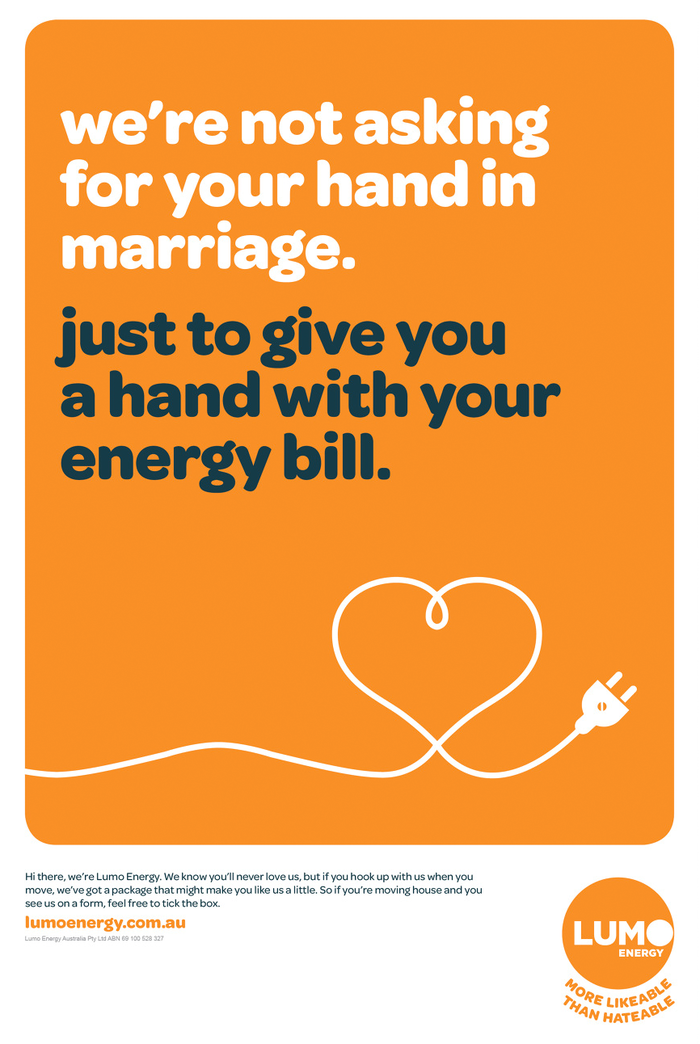 Ad by Janet & Katie for Lumo Energy