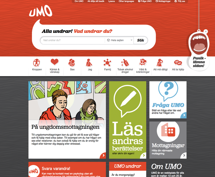 """Everyone wonders! What do you wonder?"" — UMO homepage"