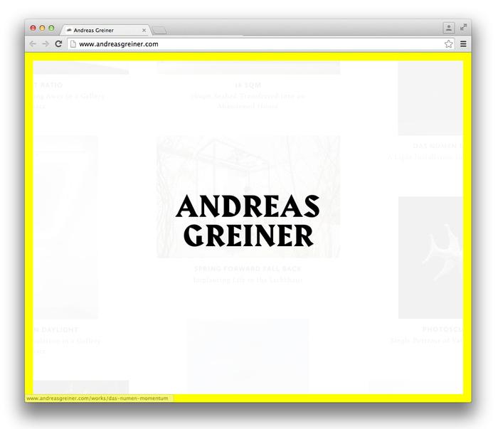 Andreas Greiner website 1