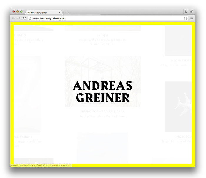 Andreas Greiner website 1