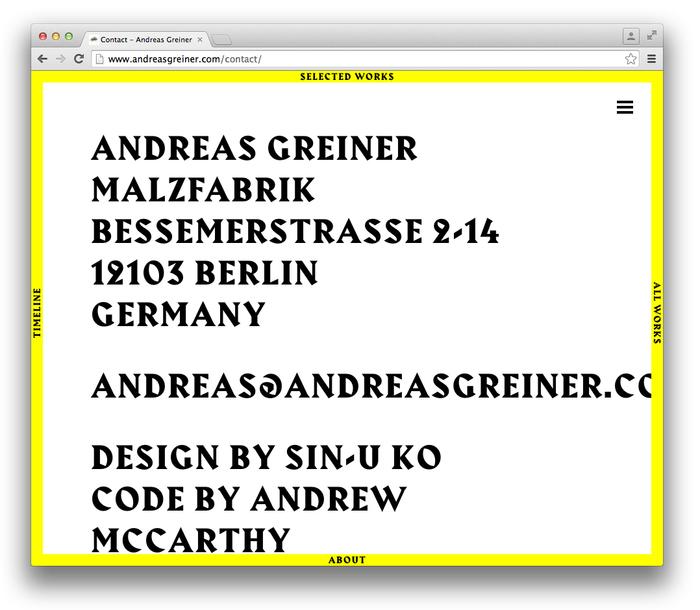Andreas Greiner website 8