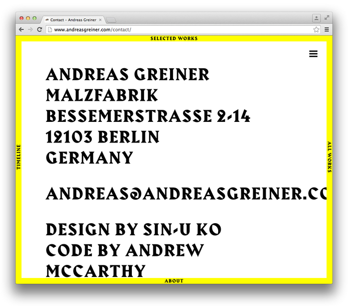 Andreas Greiner website 8