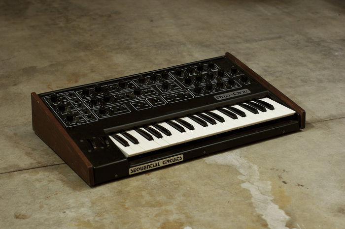 Sequential Circuits Pro One synthesizer and manual 3