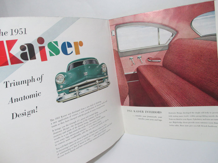 1951 Kaiser ad and brochure 5