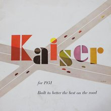 1951 Kaiser ad and brochure