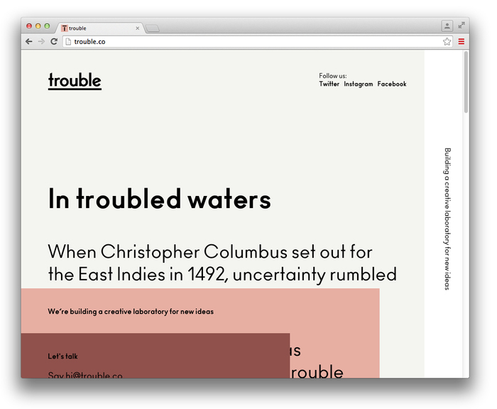 Trouble website 1