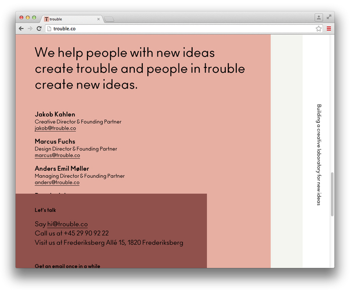 Trouble website 4
