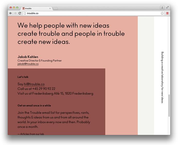 Trouble website 5