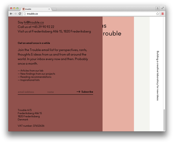 Trouble website 6