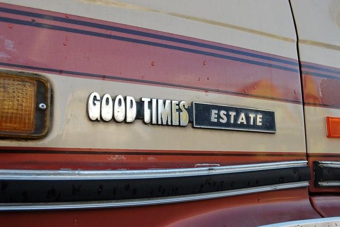 "1983 Chevy ""Good Times Estate"" Van."
