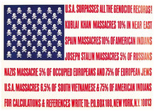 <cite>U.S.A. Surpasses All The Genocide Records! </cite>poster and fact sheet