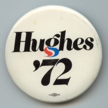 Harold Hughes 1972 campaign logo, button, sticker