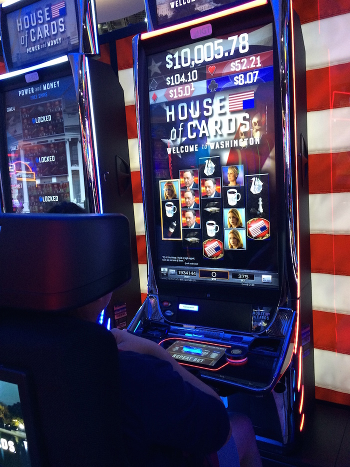 Bourgeios is also used on House Of Cards slot machines that can be seen at casinos across the USA!