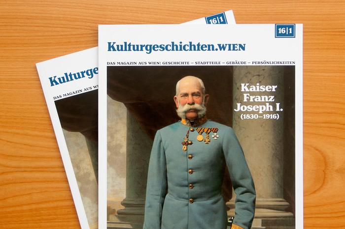 Cover of the first issue of the magazine Kulturgeschichten Wien.