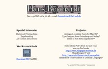 Hans Reichardt's website
